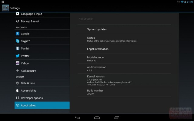 android 4.2.2 update for nexus 7 and nexus 10