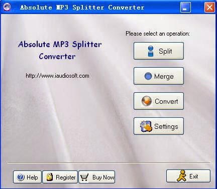 Xrlly Absolute MP3 Splitter Converter v4 0 0 Image