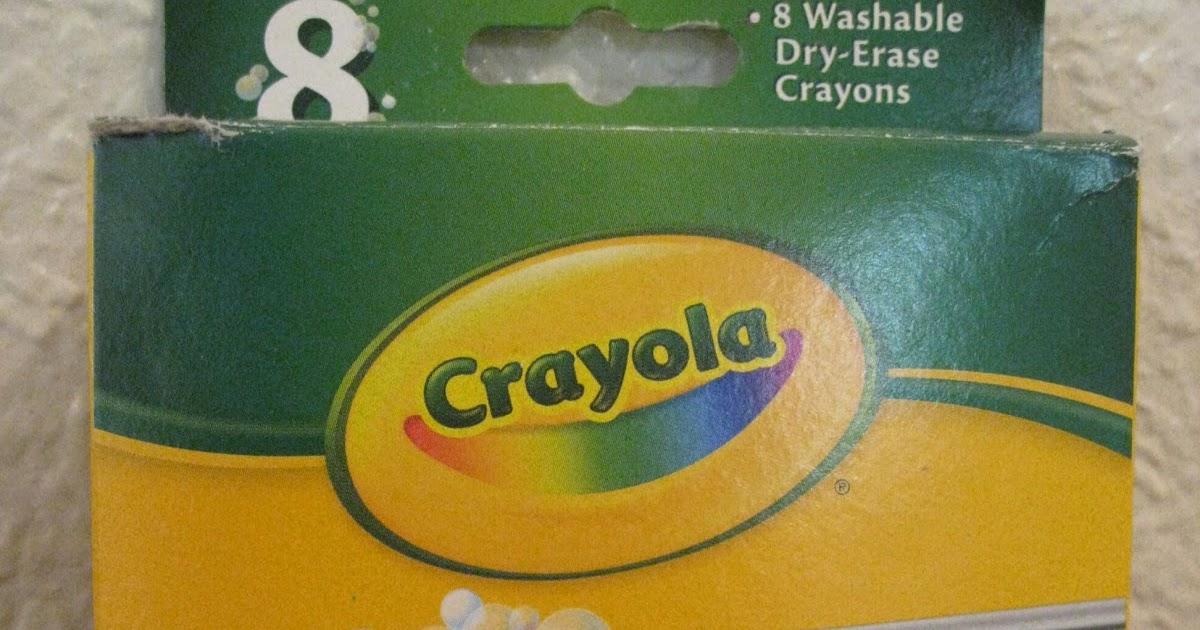 ot cafe crayola dry erase crayons