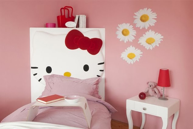 Decoracion Kitty Habitaciones ~ decoracion de cuartos para ninas de hello kitty una madera pintada de