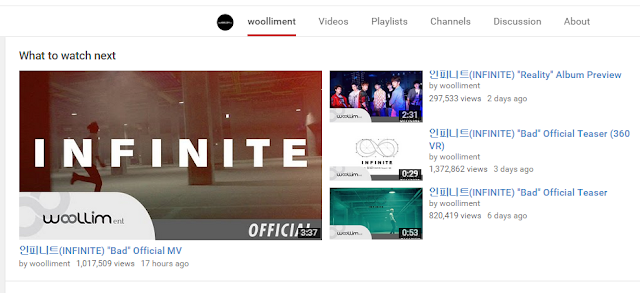 Infinite Bad 1 Million Views