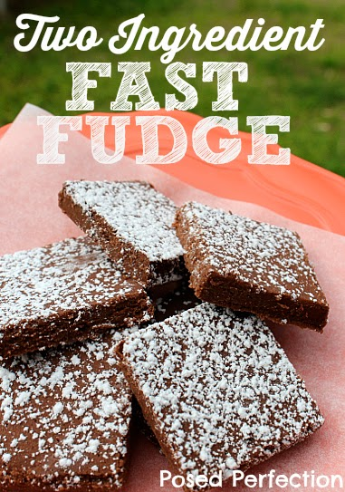 2 Ingredient Fast Fudge