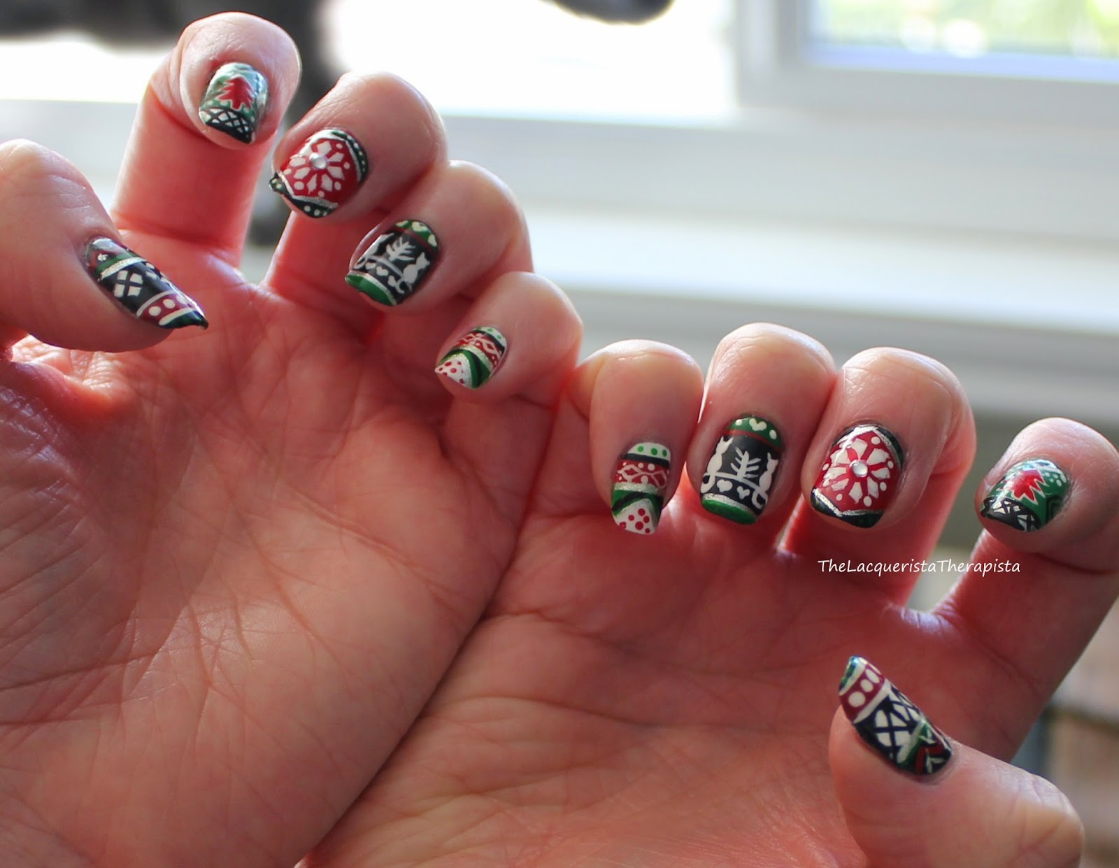 Ugly Christmas Sweater, holidays, Zoya, nail art