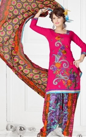 Latest Colorful Patiala Suits 2014
