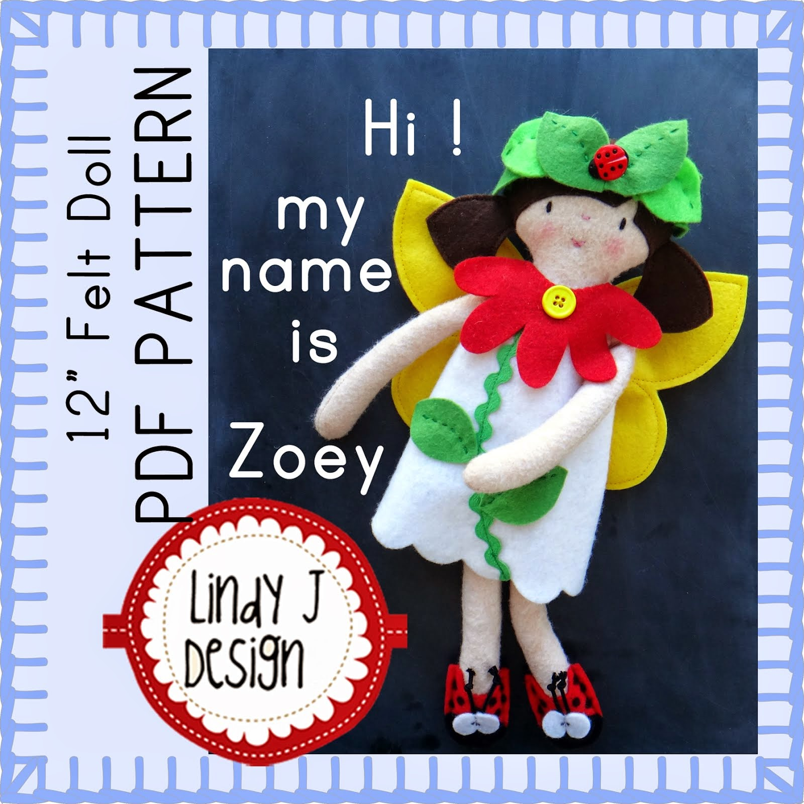 My Zoey Doll PDF Pattern