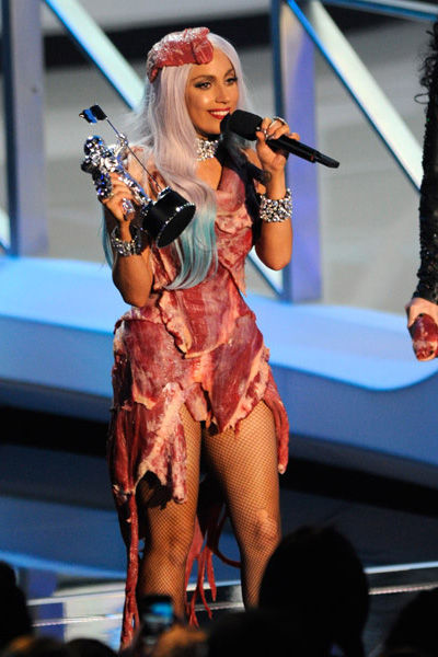 lady gaga meat dresses. images lady gaga outfits meat.