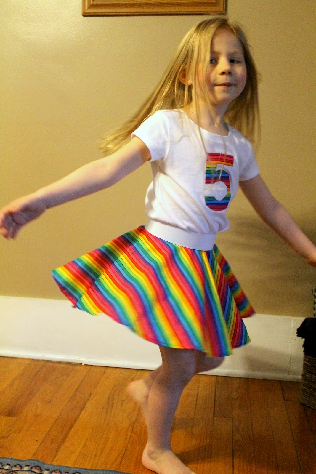 Twirling rainbows and a very happy girl thoroughly for Modern housewife