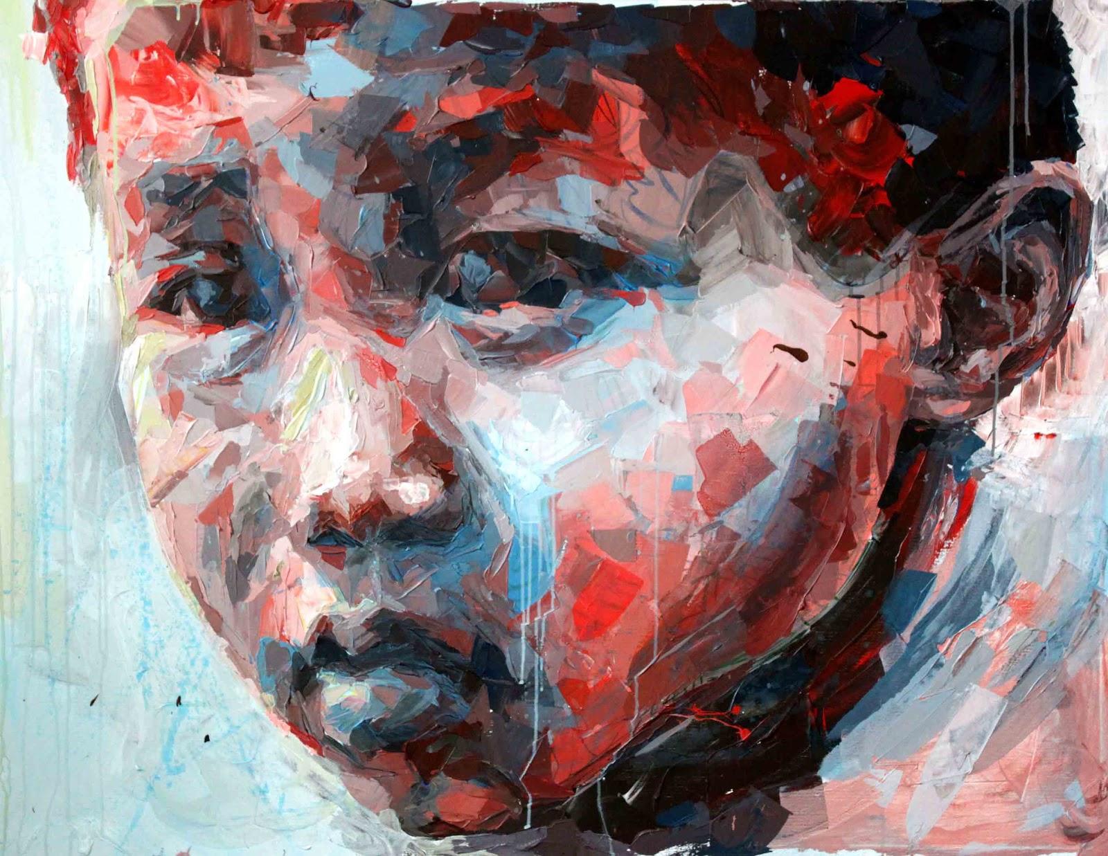 Henri Lamy, figurative drip paintings - Figurative Artist