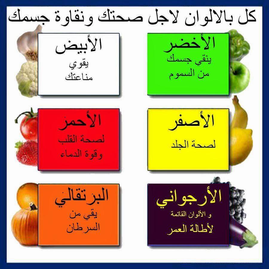 خضروات بالألوان لأجل صحتك