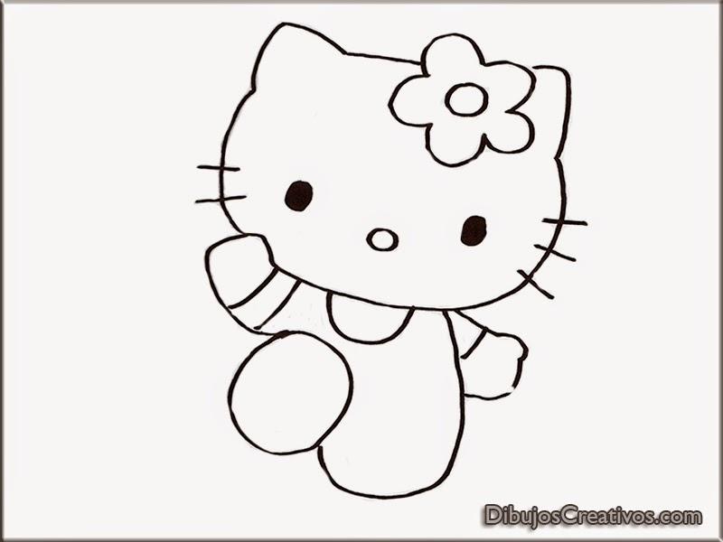 dibujos para colorear HELLO KITTY