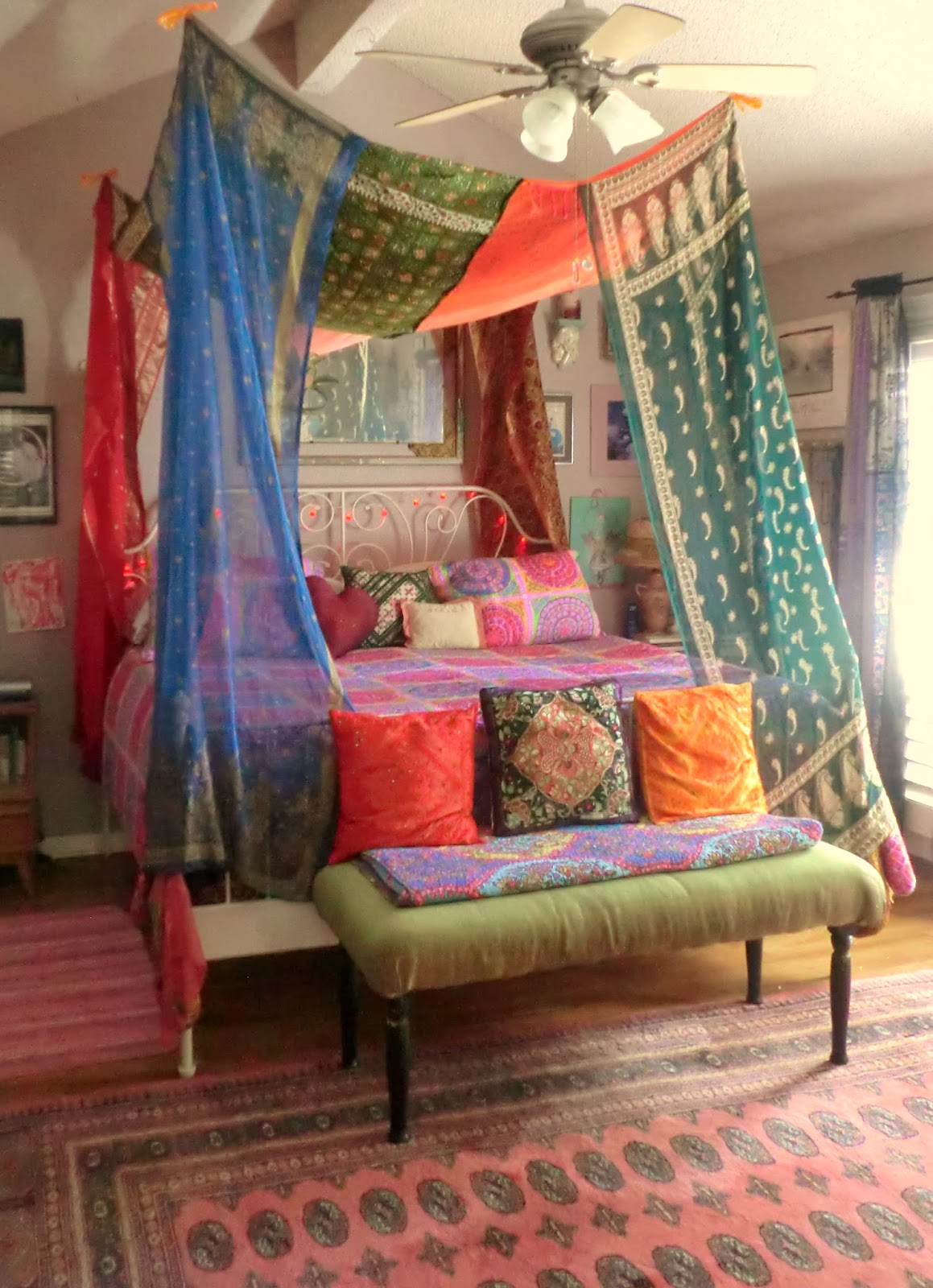 A Gallery of Bohemian Bedrooms | Canopies, Boho and Quilt
