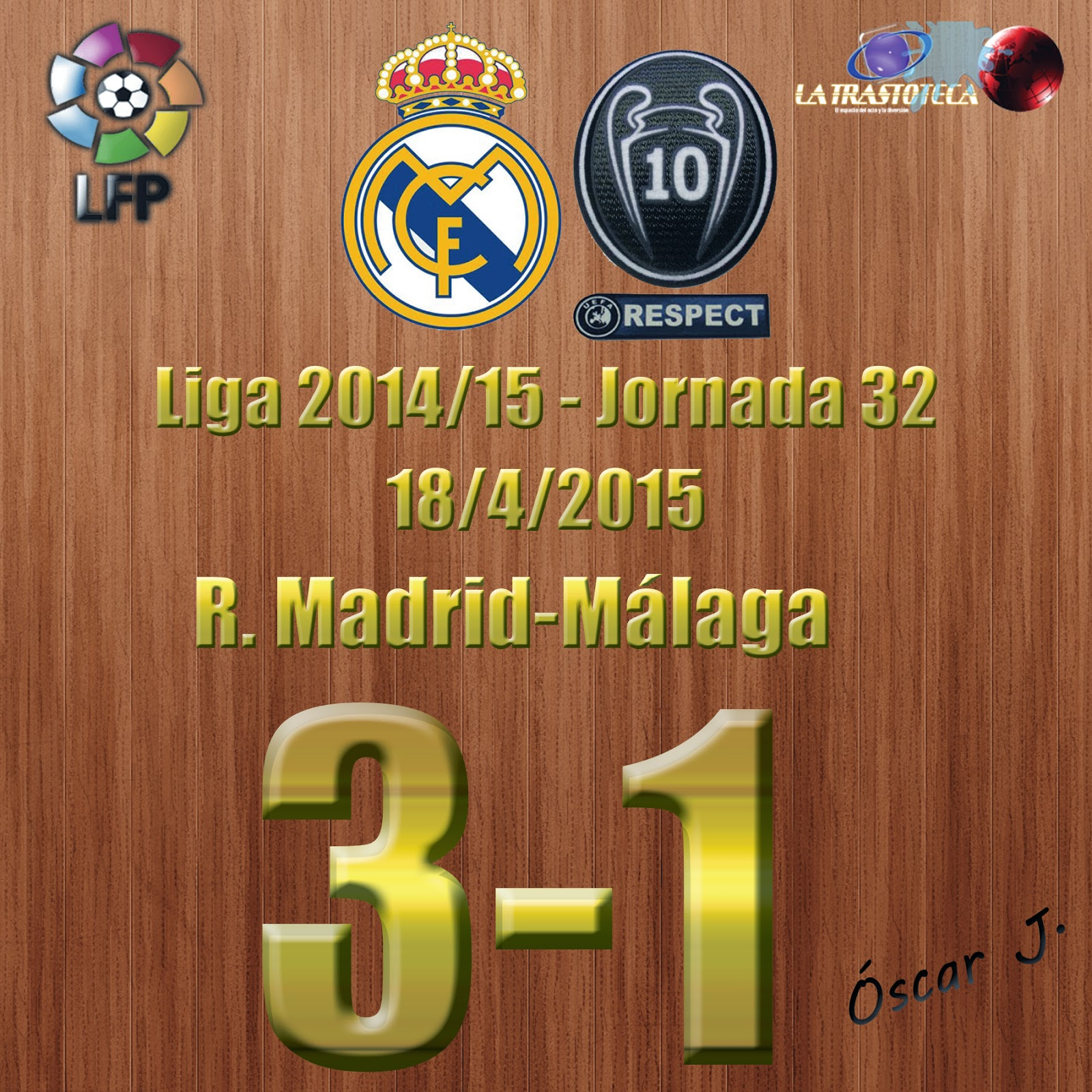 Real Madrid 3-1 Málaga - Liga 2014/15 - Jornada 32 - (18/4/2015)