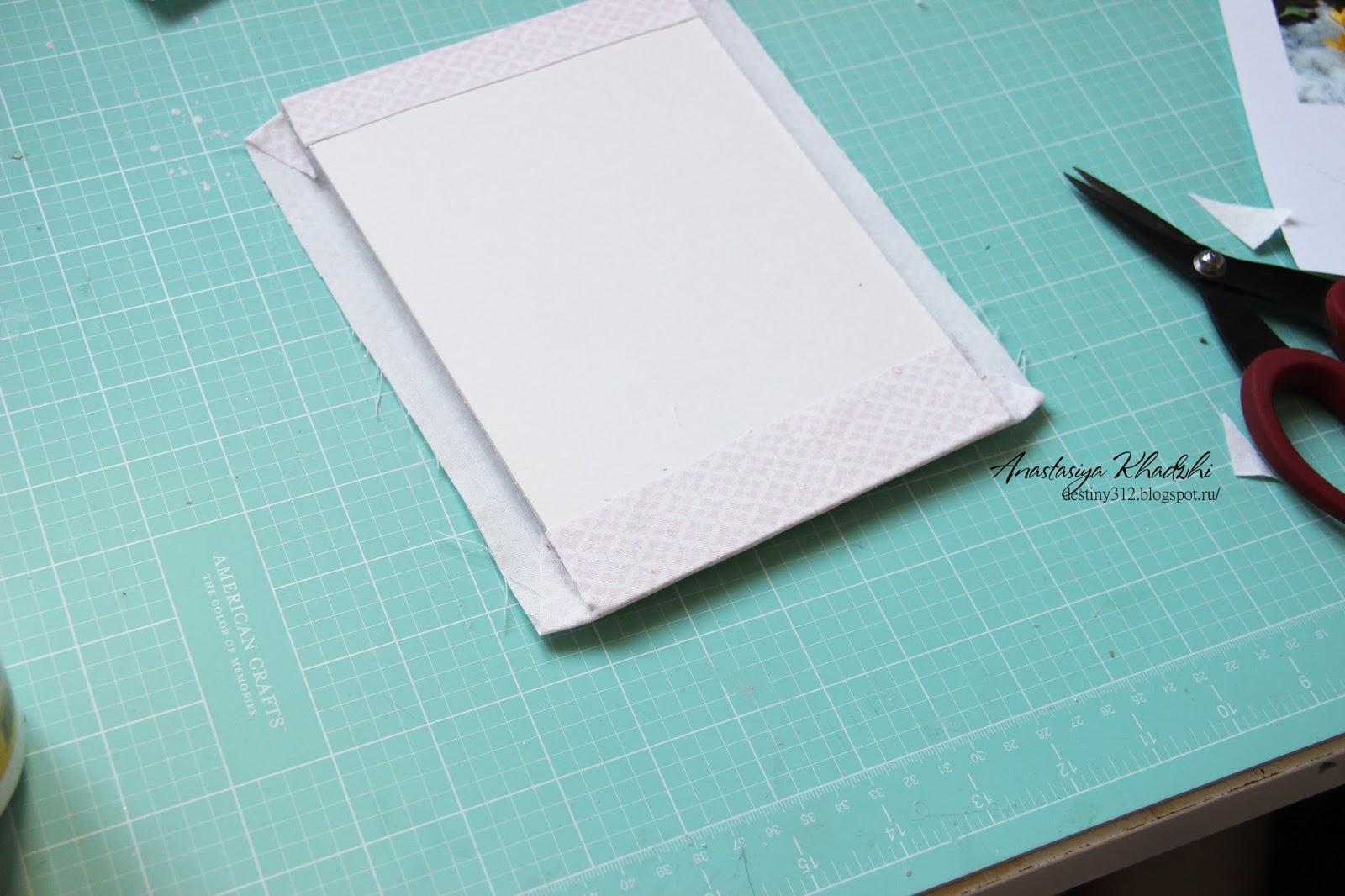 Цветы на открытке бумагой