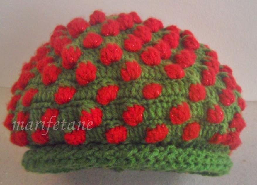 crochet strawberry hat