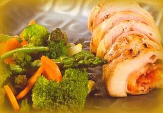 Pechuga campesina con verduras salteadas