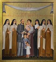 Icône famille saints Louis et Zélie Martin
