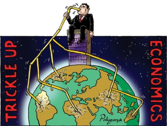 Polyp: Trickle Up Economics - Northern Hemisphere view.