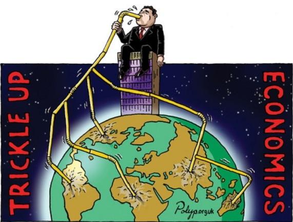 Polyp: Trickle Up Economics - Northern Hemisphere view.