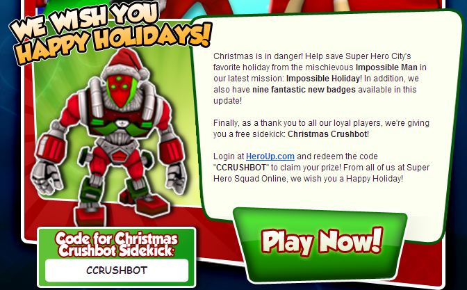 How to get Free Heroup Super Hero Squad Codes Superhero sidekick