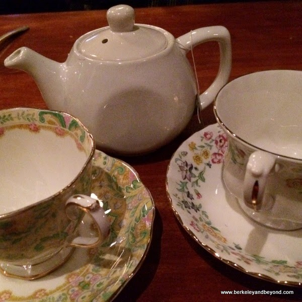 a proper tea service at The Growlers' Arms in Oakland, California