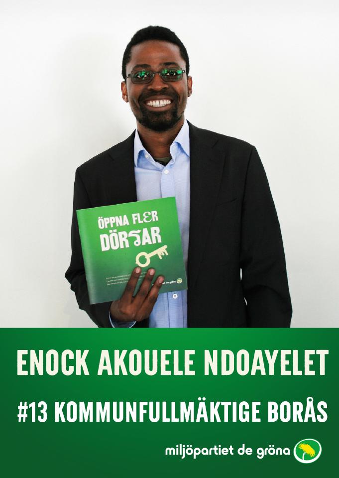 Fullmäktigekandidater - #13 Enock Akouele Ndoayelet