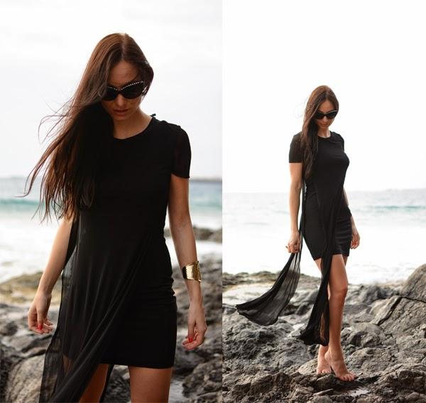 Outfit Beach Black Summer Dresses Chanel Sunglasses LamourDeJuliette 2