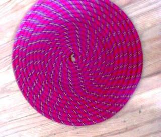 cara membuat Circle Crop dari Tali – untuk Alas, Keset, Tatakan/Lainnya