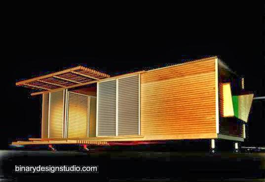 Pequeña casa económica modular