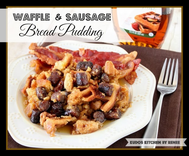 ... AMAZING? Why… my Waffle and Sausage Bread Pudding, of course
