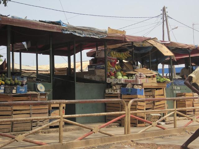 Puestos en la entrada a Dakar