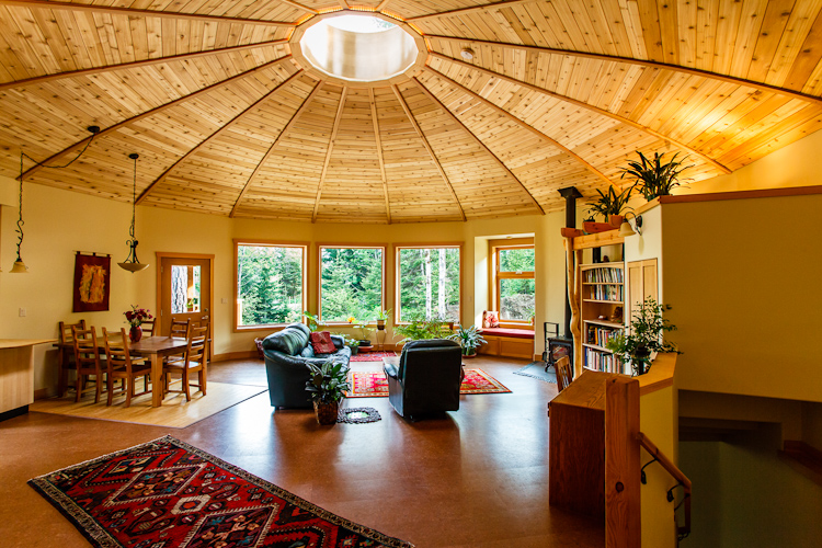 A Firsthand Look At Magnolia 2300 Yurt on Green Spiral Shape