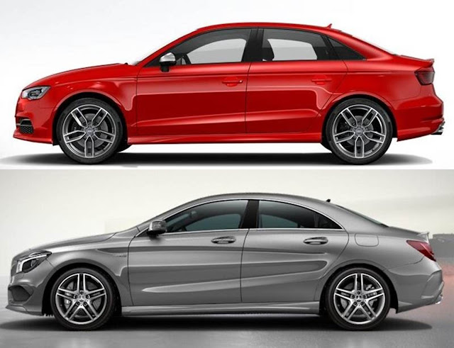 Audi S3 Sedã x Mercedes CLA 45 AMG