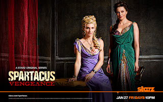 Spartacus Vengeance Ilithyia and Lucteria Poster HD Wallpaper