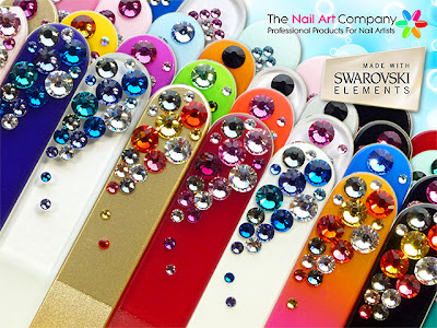 Just some of the High Quality Crystal Glass Nail Files Available at The Nail Art Company