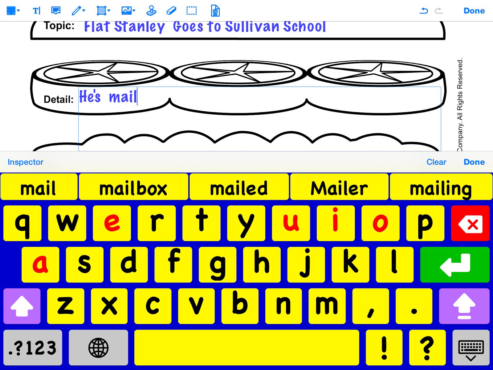 Screen shot of alternative keyboard.
