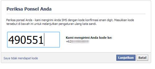 facebook lupa kata sandi