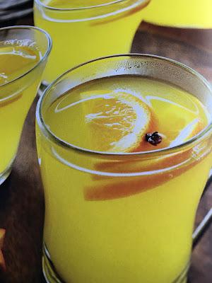 hot spiced orange drink