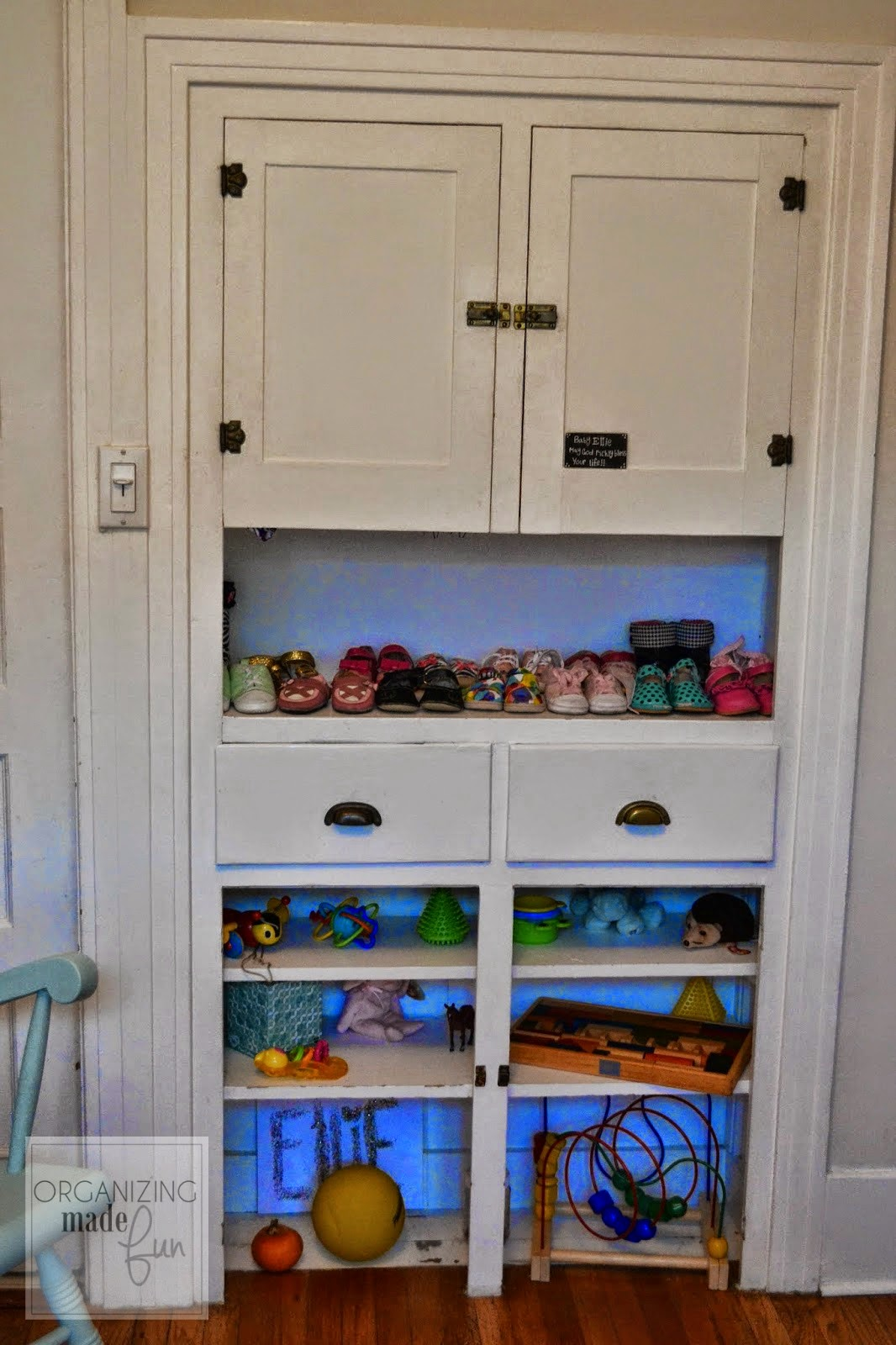 Toddler Toy Organization :: OrganizingMadeFun.com