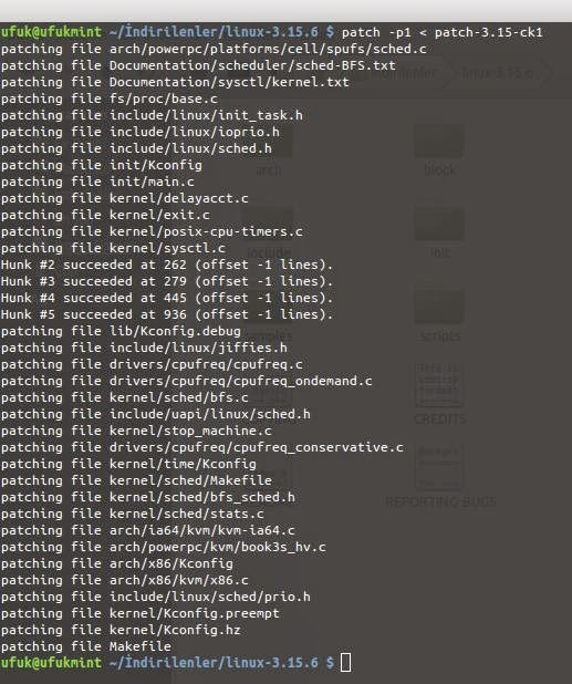 Make oldconfig. patch -p1 patch-3.15-ck1. oldconfig ile size yeni kernel il