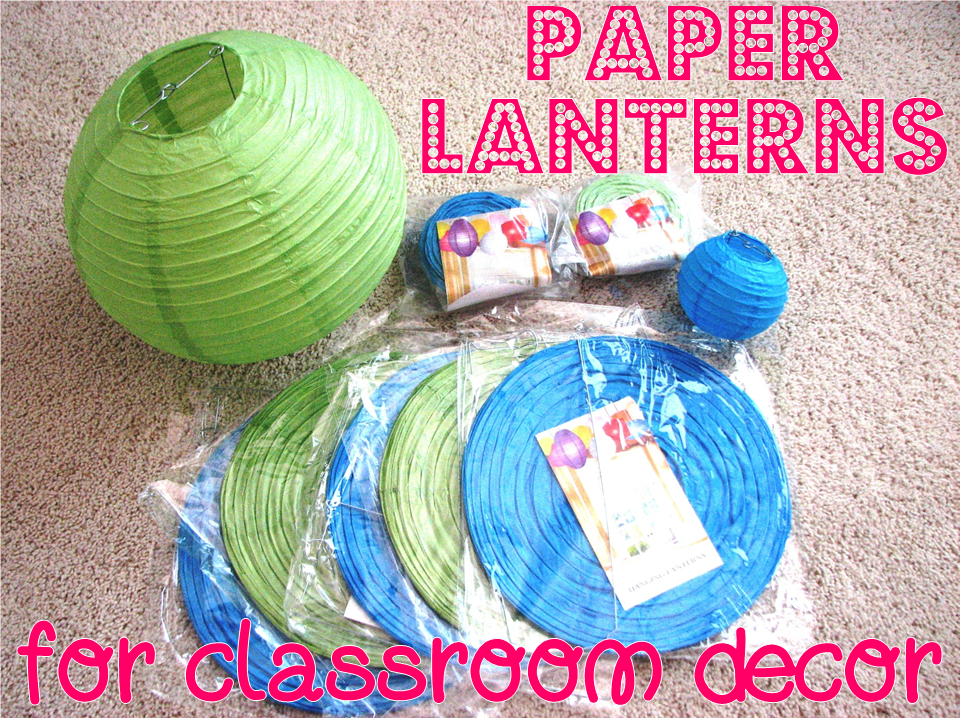 Add a punch of color to your classroom with hanging lanterns. Here is how I hung paper lanterns in my kindergarten classroom to make a fun visual statement.