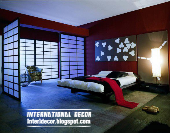 red color design for modern bedroom and romantic bedroom design