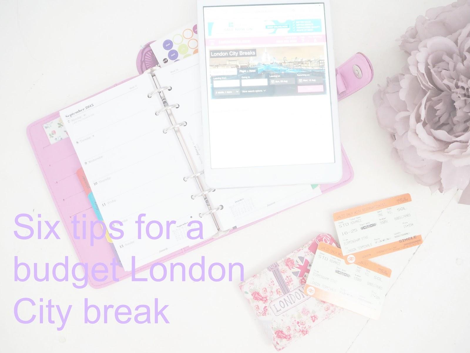six tips for a budget London city break
