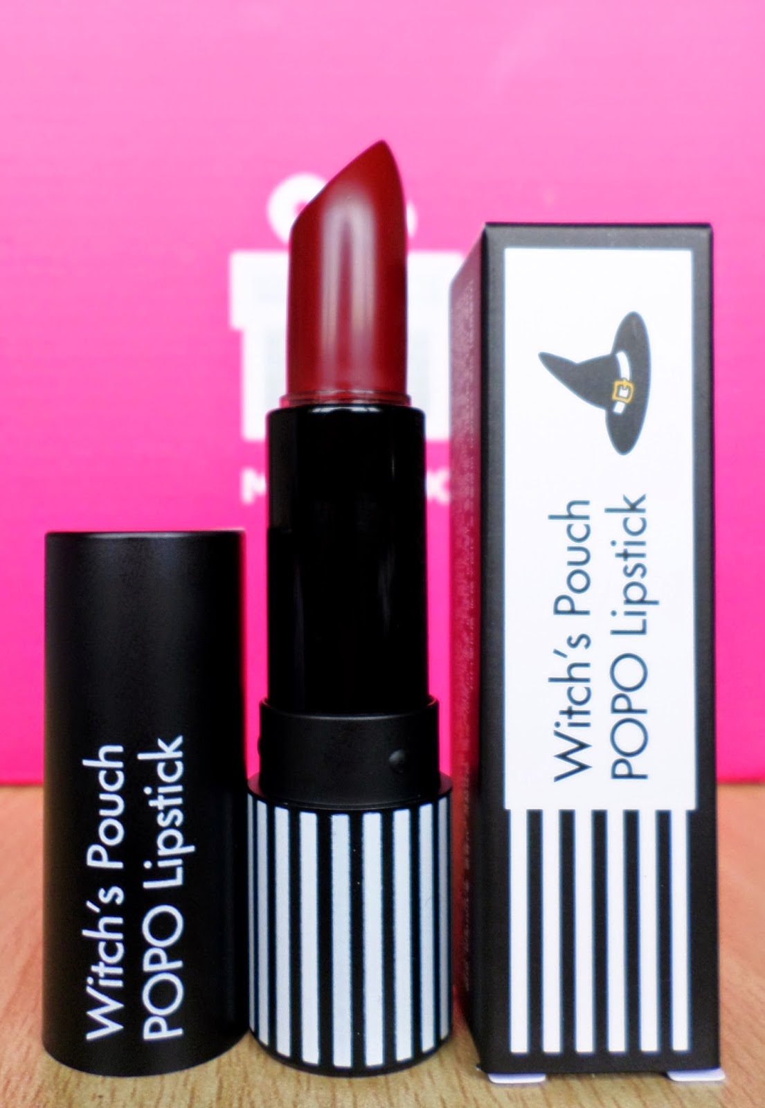 Witch's Pouch POPO Lipstick Burgundy Wine 19g rrp $12 Bullet