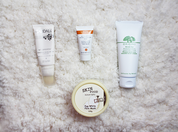 face masks ren origins skin food caudalie