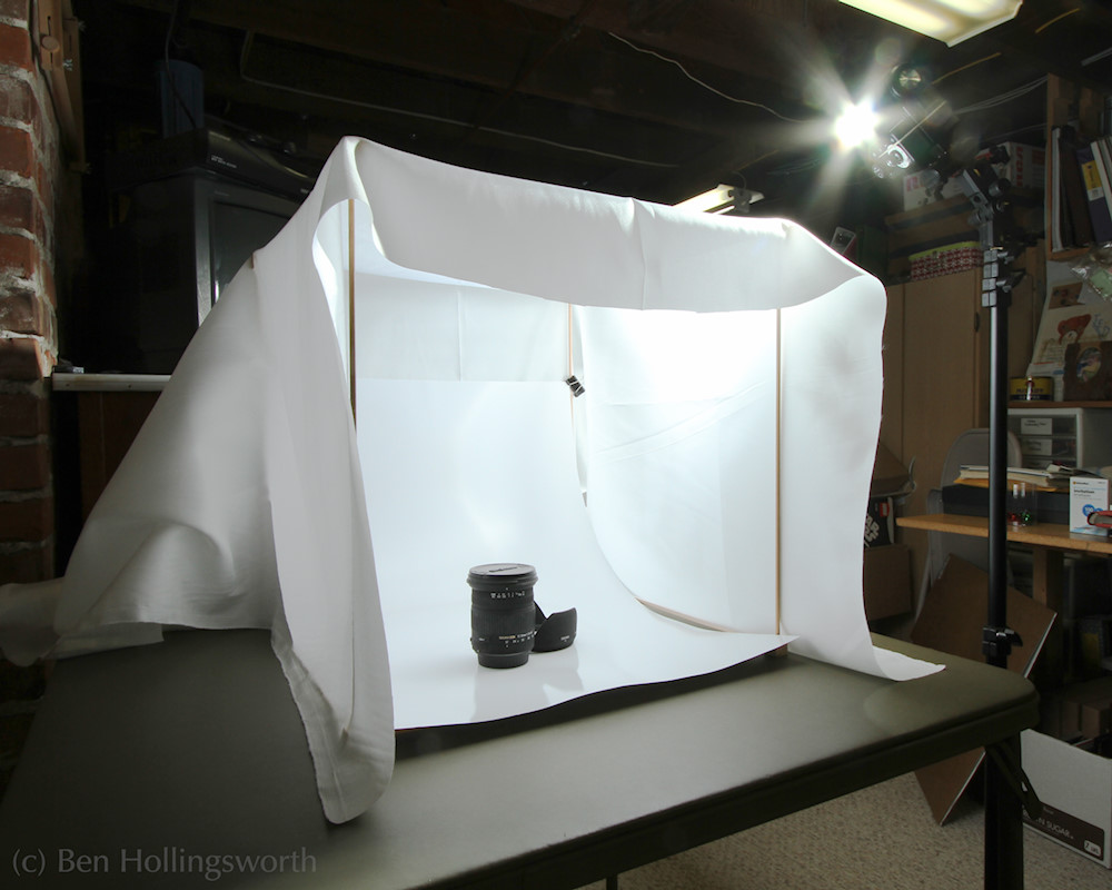 I setup the 18  frame on a folding card table for a test run. Because the two sets of dowels allow me to make the tent any size I want ... & Prairie Rim Images: DIY variable size light tent