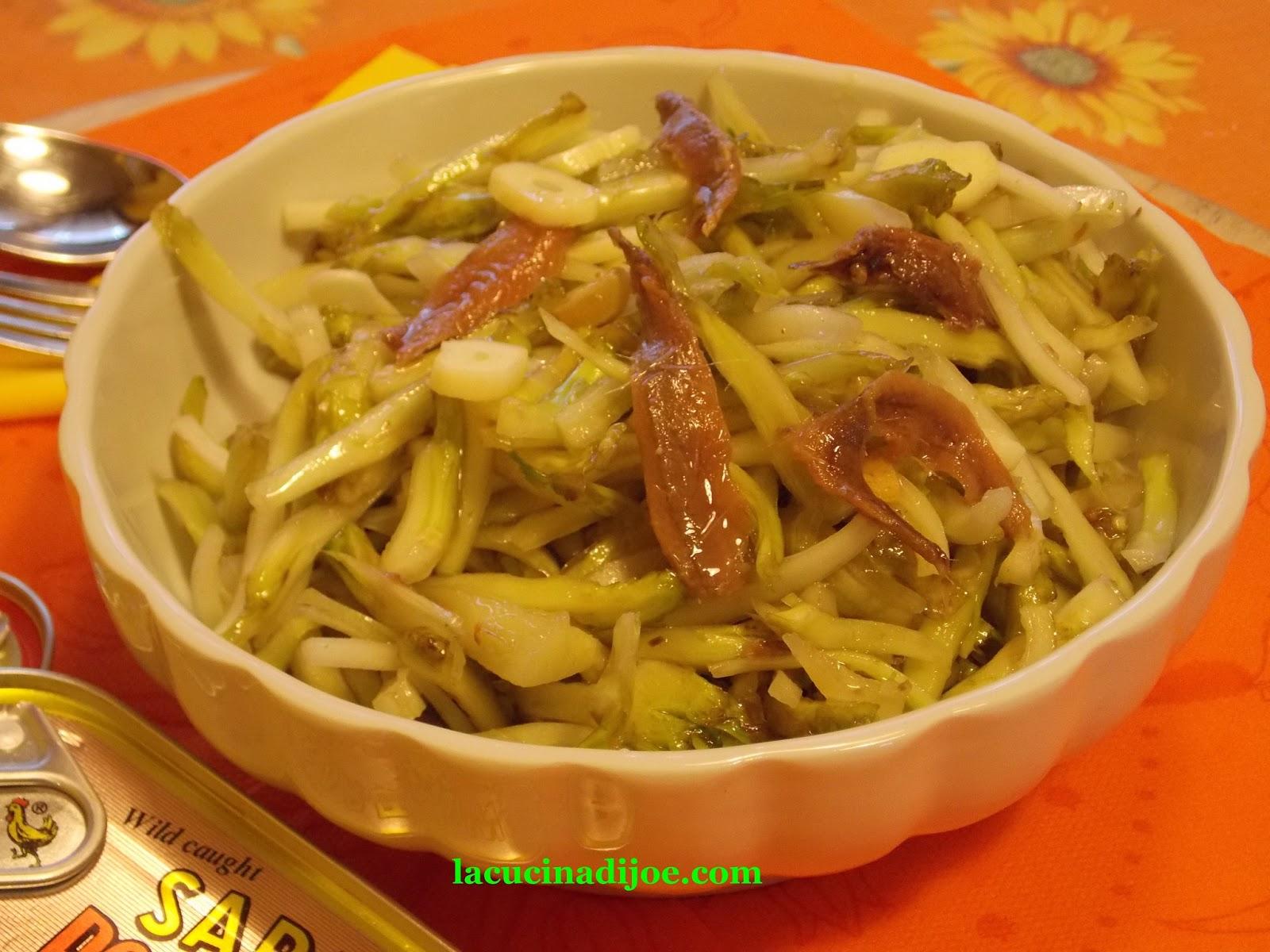 La cucina di joe le puntarelle atto primo for Piatto tipico romano