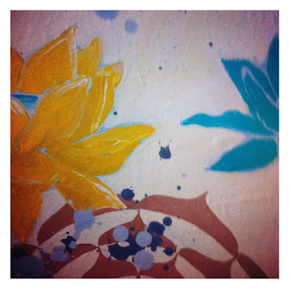 My Art: Lotus Flowers and Splatters