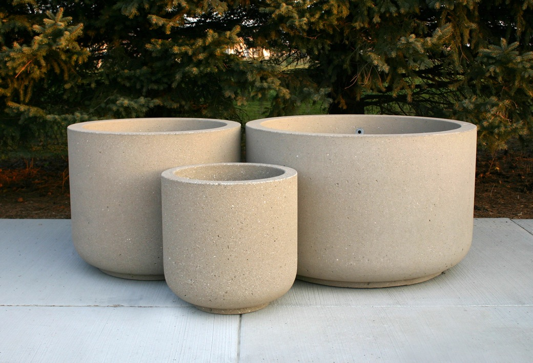 Doty sons concrete products inc concrete planters for Concrete planters