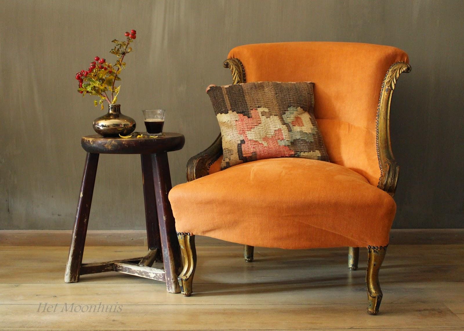 Het moonhuis: oranje en een beetje oosters