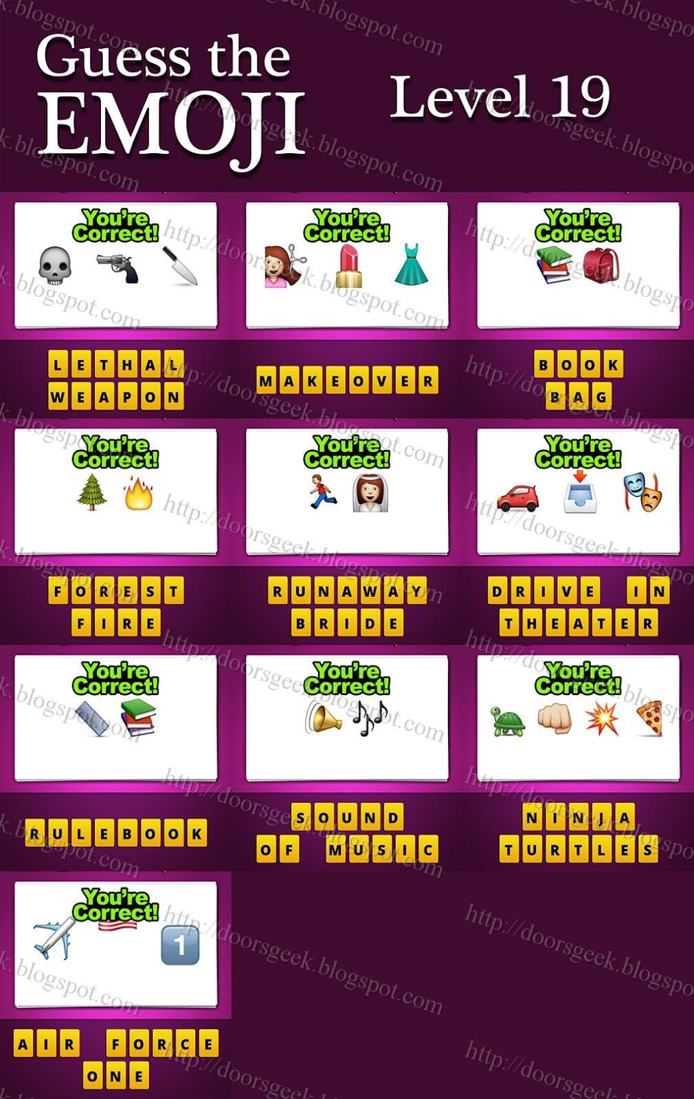 Guess Emoji Answers Level 31